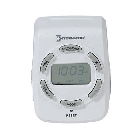intermatic 2 outlet digital residential lighting timer at lowes