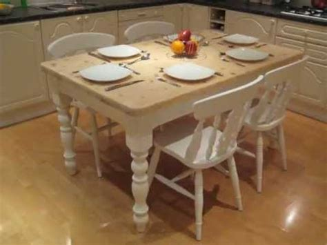 Shabby Chic Cottage Farmhouse Kitchen Dinning Table with 4