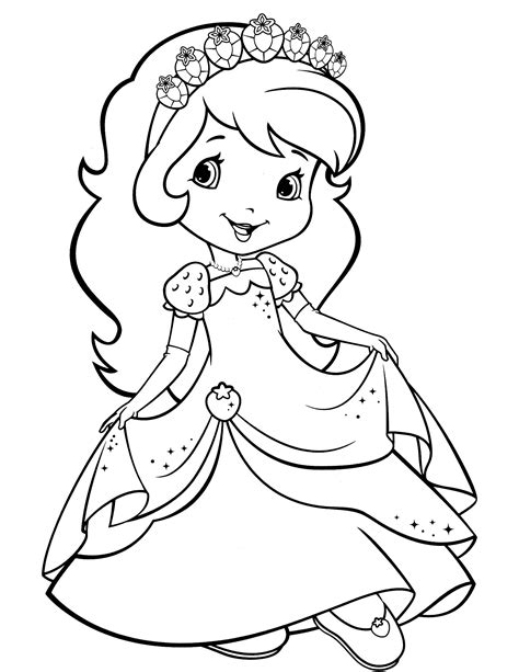 strawberry shortcake coloring page fresitas strawberry