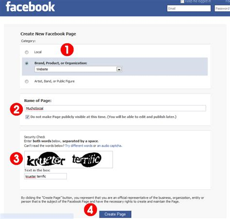 create a fan page on facebook without a profile creating a facebook fan page for your business muchosocial