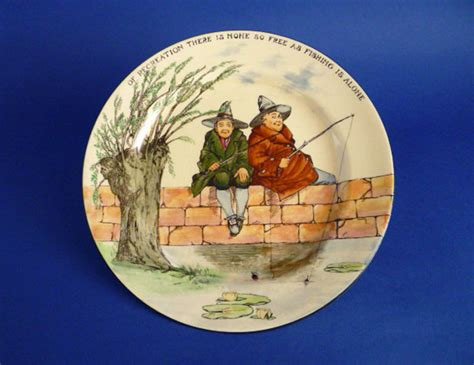 fine royal doulton series ware gallant fishers rack plate