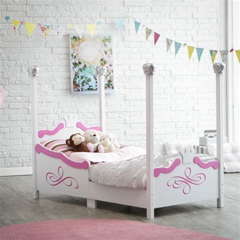 kidkraft princess toddler bed silver 86945 toddler