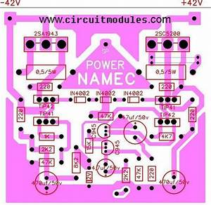 Amplifier Circuits Diagrams  U2013 Namec  U2013 Circuitmodules Com