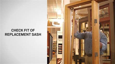 replace sash primed wood casement windows andersen windows youtube
