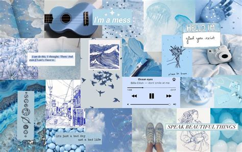blue aesthetic collage blue aesthetic computer