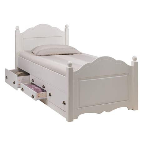 lit enfant blanc 4 tiroirs 90 x 190 cm beaux meubles pas chers