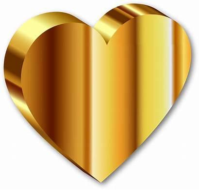 Heart Transparent Clip Dorados Scrapbook Accesorios Oro