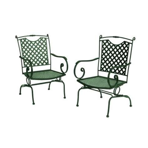 Wrought Iron Patio Sets Home Depot Wrought Iron Lattice Back Patio Dining Chairs In