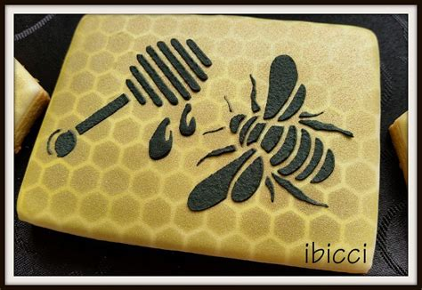large  small bee stencil