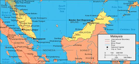 Malaysia Map And Satellite Image