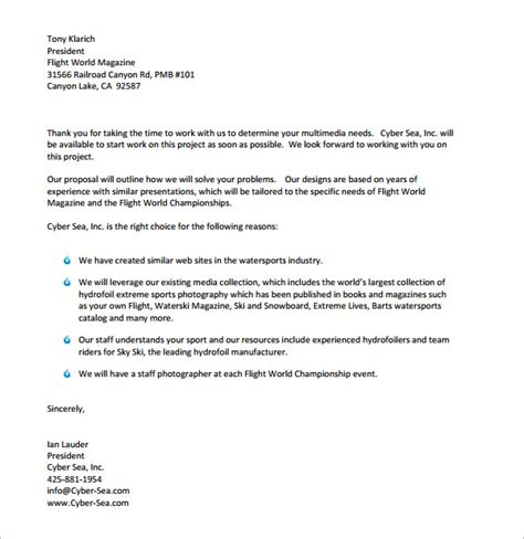 sample business proposal letters   sample