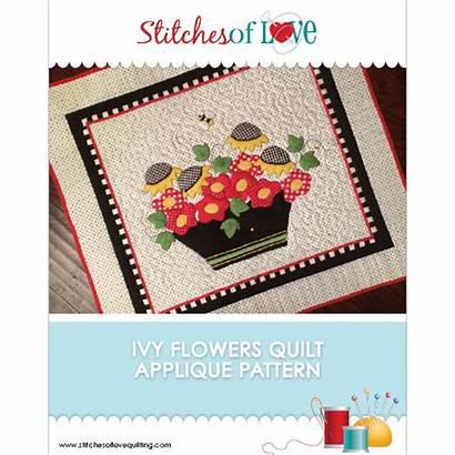 Pattern Ivy Quilt Flower Stitches Flowers