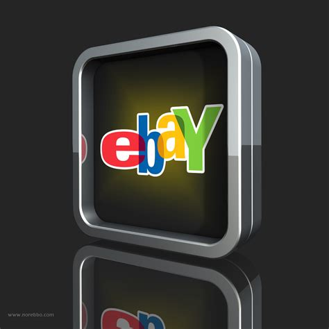 eBay logos rendered with a variety of objects – Norebbo