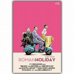 AUDREY HEPBURN Movie Art Silk Poster Roman Holiday Vintage ...