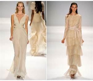 beige wedding dresses spring 2012 onewedcom With beige wedding dresses