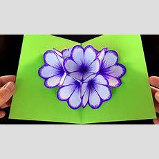 Basteln Mit Papier Blumen Popup Karte Falten Diy