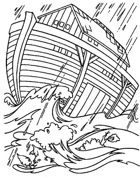bible noahs ark coloring page