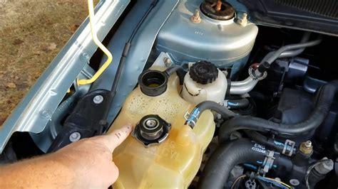 Chrysler 2 7 Water by Coolant Flush And Bleeding Chrysler 2 7
