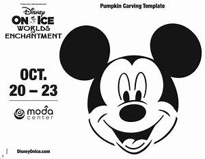 Printable  Mickey Mouse Pumpkin Carving Template