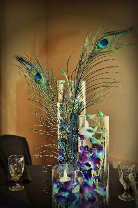 wedding centerpiece peacock peacock wedding centerpieces