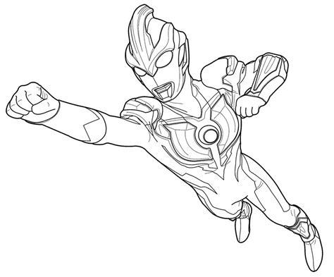Coloring Ultraman Geed by Mewarnai Gambar Ultraman Geed
