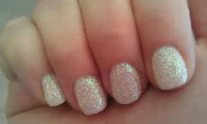 Glitter white gel nails designs images nail