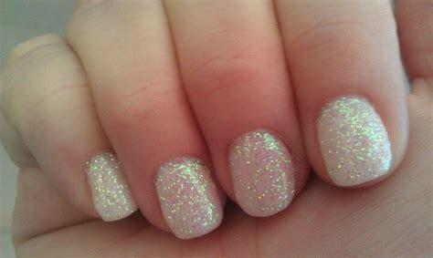 gelnägel glitzer white glitter gel nails pretty nails