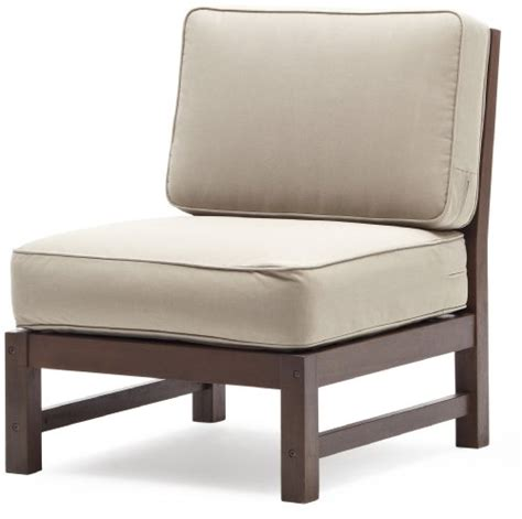 strathwood anderson hardwood sectional armless chair