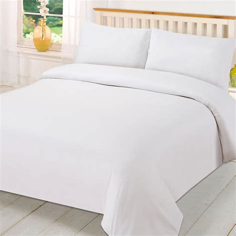 plain dyed duvet cover quilt bedding set with pillowcase