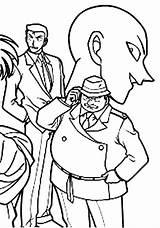 Coloring Conan Detective Cartoon Mysterious Coloringfolder Solved sketch template