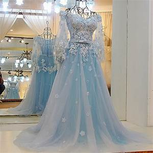 light blue wedding dresseslace wedding gownselegant prom With light blue dresses for weddings