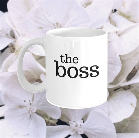 24 funny coffee mugs that'll make everyone's morning a whole lot brighter. The Boss Coffee Mug - Funny Mugs with Sayings - The Office Quote - Feminist Girlboss - Christmas ...