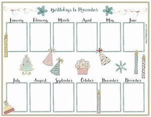 free birthday calendar With family birthday calendar template