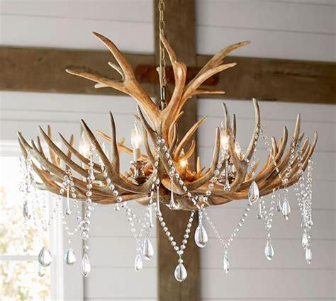 pottery barn antler chandelier faux antler chandelier lighting antler chandelier