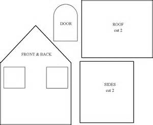 3D Gingerbread House Templates Printable