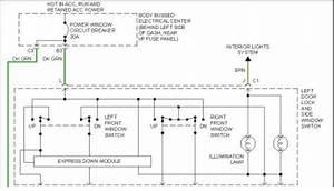 1998 Chevy Blazer Power Window Switch  Driver Side