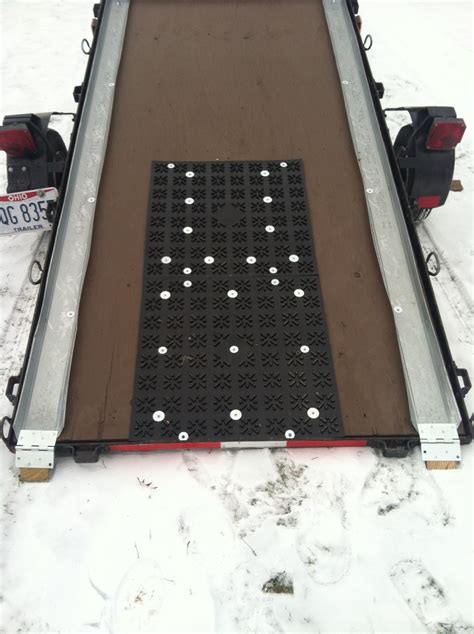 10.28.16 winter will soon be upon us, so now is the time to start thinking about prepping your snowmobile trailer for the upcoming season. Rubber truck beds and other used for sled trailer track mats