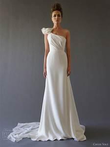 Cocoe voci wedding dresses fall 2012 wedding inspirasi for One shoulder wedding dress