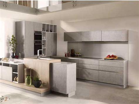 plan de travail cuisine schmidt cuisine americaine grise style minimaliste schmidt
