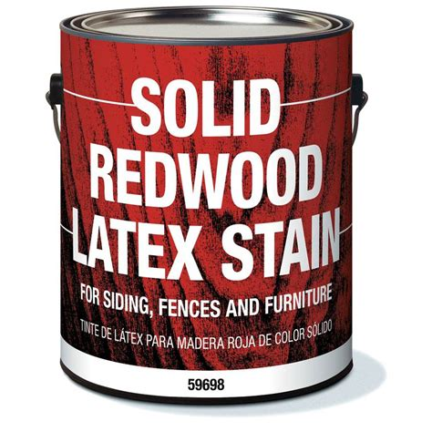 shop olympic solid redwood latex stain redwood solid