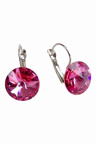 Swarovski Earrings Pink Shoptiques