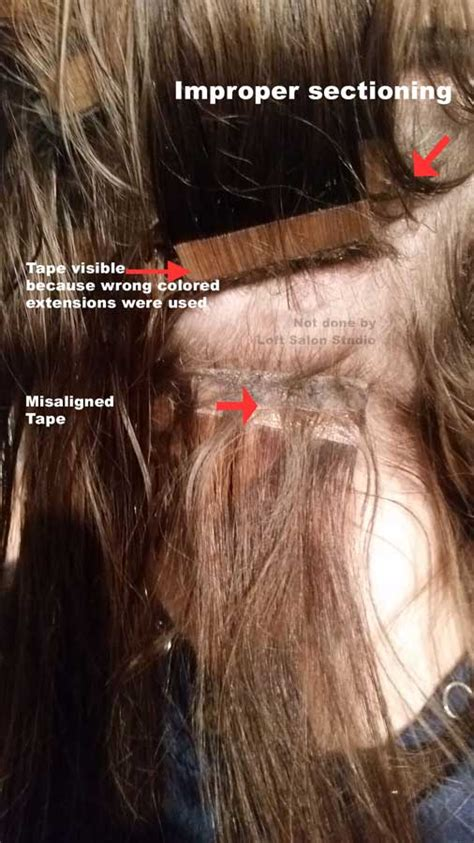 poorly applied hair extensions  extension corrections