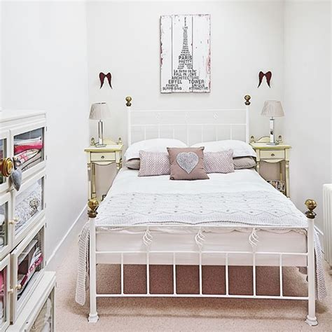 small white bedroom ideas small pretty bedroom with iron bed decorating
