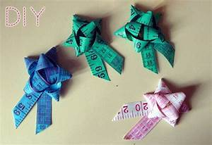 How To Make A Gift Bow Or Brooch From Measuring Tape