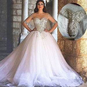 Bling bling wedding dress ball gown wedding dresses for Long sleeve ball gown wedding dress