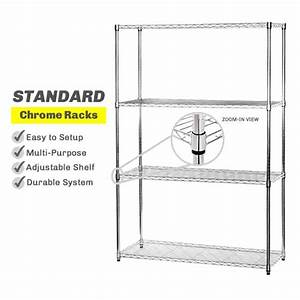 Standard Chrome Wire Shelving
