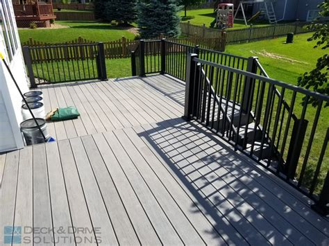 Deck Tech Solutions Inc by Timbertech Deck With 2 Outdoor Living Areas Des Moines