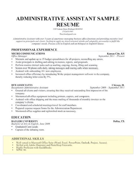 Additional Skills On Resume by How To Write A Skills Section For A Resume Resume Companion