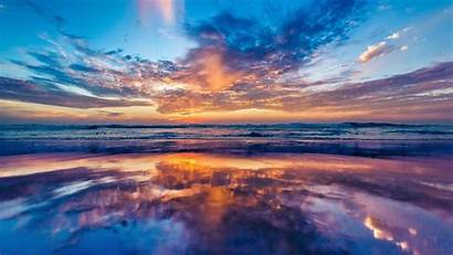 Sunrise Beach Ocean Landscape Sea Wallpapers Wallpaperup