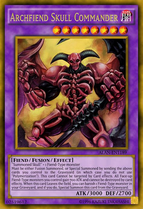 summoned skull deck 2017 archfiend skull commander by alanmac95 on deviantart